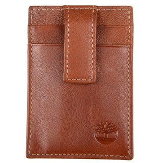 Timberland Men's Genuine Leather Tab Front Pocket Wallet