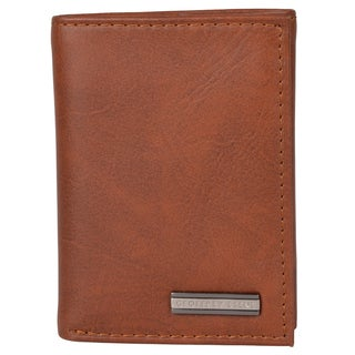 Geoffrey Beene Men's Genuine Leather Tri-fold Wallet
