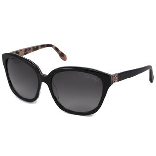 Roberto Cavalli Women's RC733S Baros Black Rectangular Sunglasses