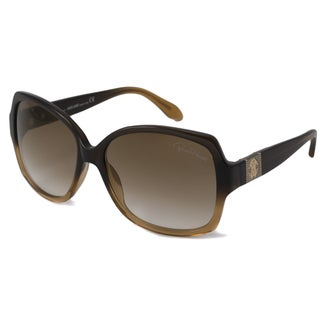 Roberto Cavalli Women's RC651S Ginestra Brown Rectangular Sunglasses