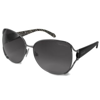 Roberto Cavalli Women's RC596S Primula Black/Gray Rectangular Sunglasses