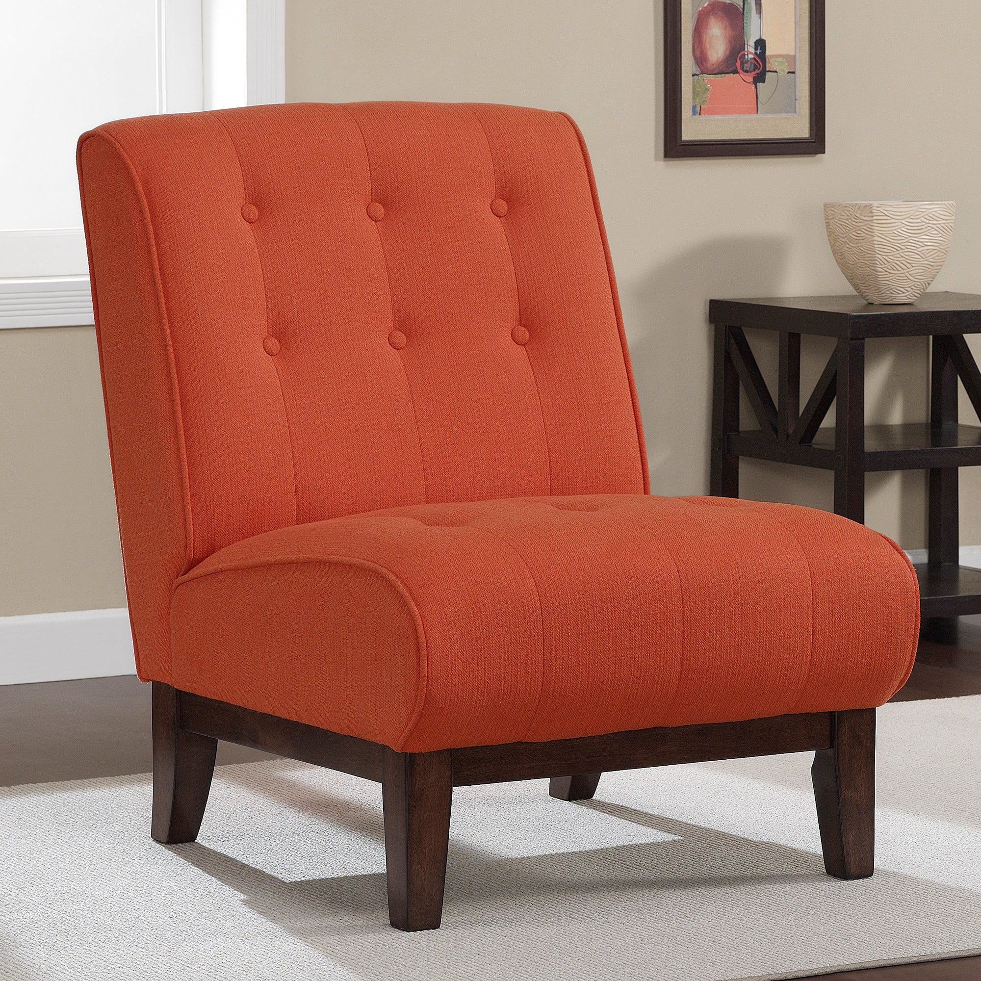 Slipper chair overstock shopping great deals on living room chairs