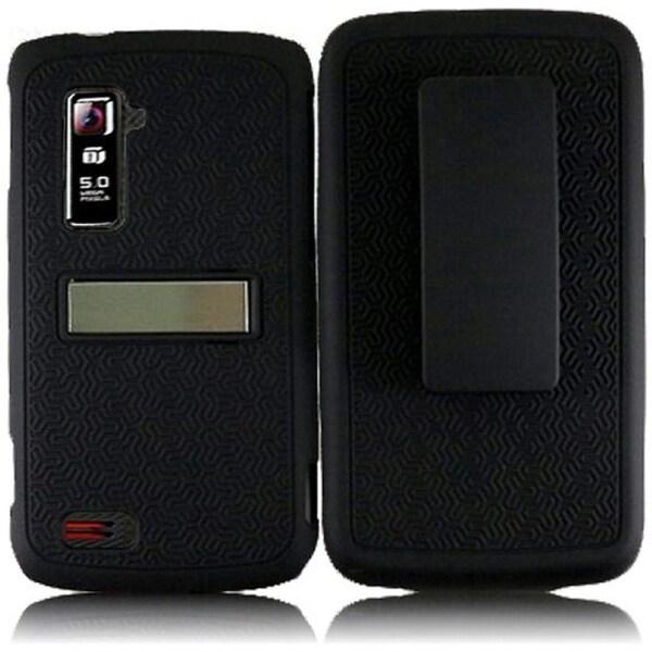 INSTEN Black Phone Case Cover with Belt Clip for ZTE Anthem 4G N910