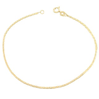Fremada 10k Yellow Gold 1.2-mm Valentino Chain Bracelet (7.5 inch)