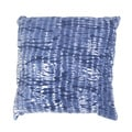 Handmade Blue Tie-Dye Cotton 22x22-inch Throw Pillow