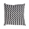 Handmade Black and White Chevron Cotton 18x18-inch Throw Pillow