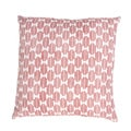 Handmade Red Printed Cotton 18x18-inch Throw Pillow
