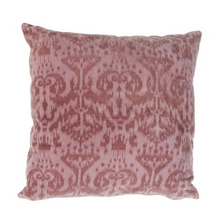 Handmade Purple Ikat Cotton 20x20-inch Throw Pillow