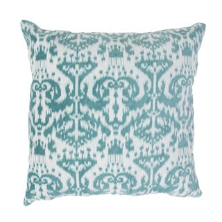 Handmade Blue Ikat Cotton 20x20-inch Throw Pillow