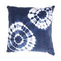 Handmade Blue Tie-Dye Cotton 18x18-inch Throw Pillow