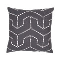 Handmade Charcoal Flax 18x18-inch Throw Pillow