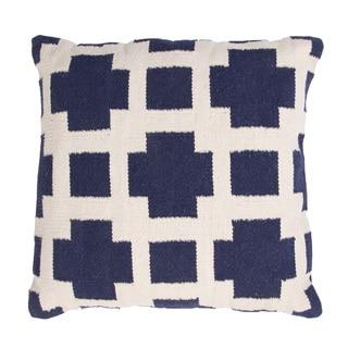 Handmade Woven Cotton 18x18-inch Throw Pillow