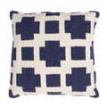 Handmade Woven Cotton 18x18-inch Throw Pillow
