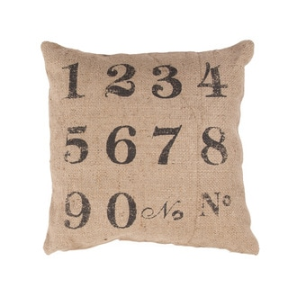 Handmade Jute 20x20-inch Throw Pillow
