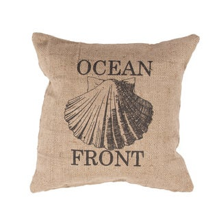 Handmade Ocean Front Jute 20x20-inch Throw Pillow