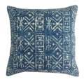Handmade Blue Cotton 20x20-inch Throw Pillow