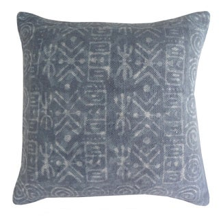 Handmade Gray Cotton 24x24-inch Throw Pillow