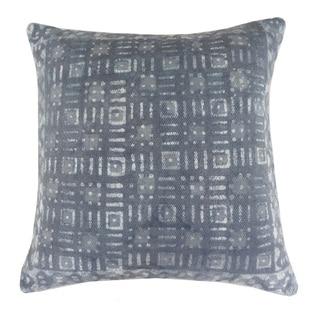 Handmade Gray Cotton 24x24-inch Throw Pillow
