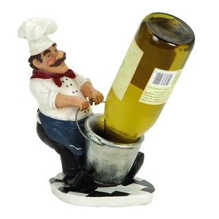 French Chef Resin Wine Holder