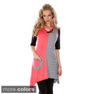 Women's Two-tone Sleeveless Spliced Top