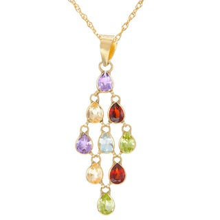 10k Yellow Gold Multi-gemstone Necklace