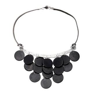 Handmade Ssezibwa Black Horn Bib Necklace Necklace (Uganda)