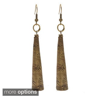 Handmade Metal Vuvuzela Horn-shaped Dangle Earrings (Uganda)