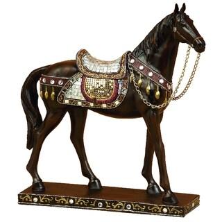 Polystone Embellished Horse Figure