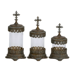 Polystone Traditional Glass Canister 3-piece Set