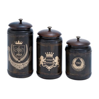 Matte Metal 3-piece Canister Set
