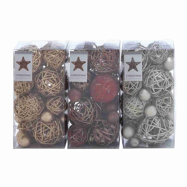Natural Dried Decorative Ball Assortment (3 boxes)