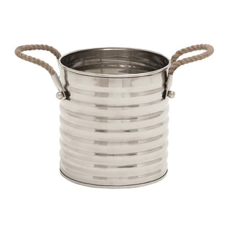 Steel Stylish Rope Wine Cooler with Subtle Curves