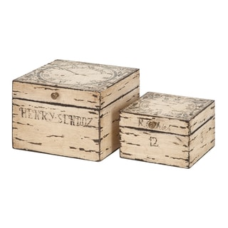 2-piece Decorative Wood Box Set