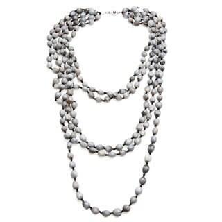 Handmade Grey Ensigo Multi-strand Necklace (Uganda)