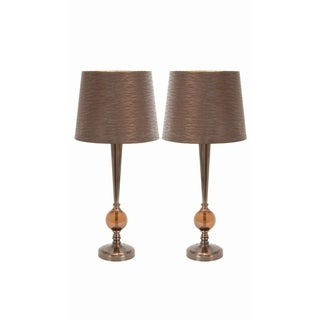 Contemporary Metal Glass Table Lamp