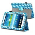 BasAcc Blue/ White Dot Stand Leather Case for Samsung Galaxy Tab 3 7.0