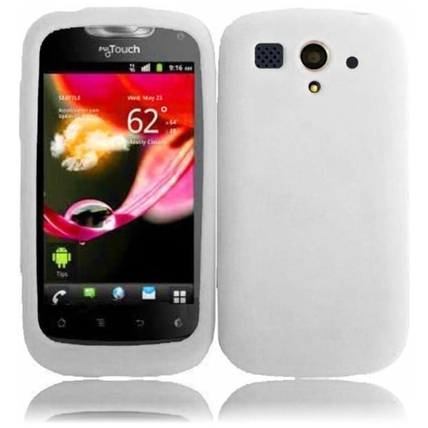 INSTEN White Soft Silicone Phone Case Cover for Huawei myTouch U8680T