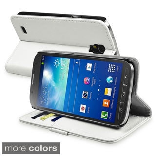 BasAcc Stand Leather Case with Card Slot for Samsung Galaxy S4 Active I9295