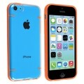 BasAcc Clear with Orange Trim Slim Case for Apple iPhone 5C