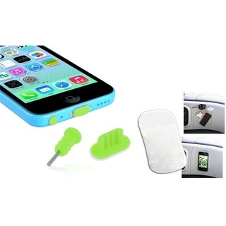 BasAcc Dust Cap SIM Eject Pin/ Sticky Mat for Apple iPhone 5/ 5S/ 5C