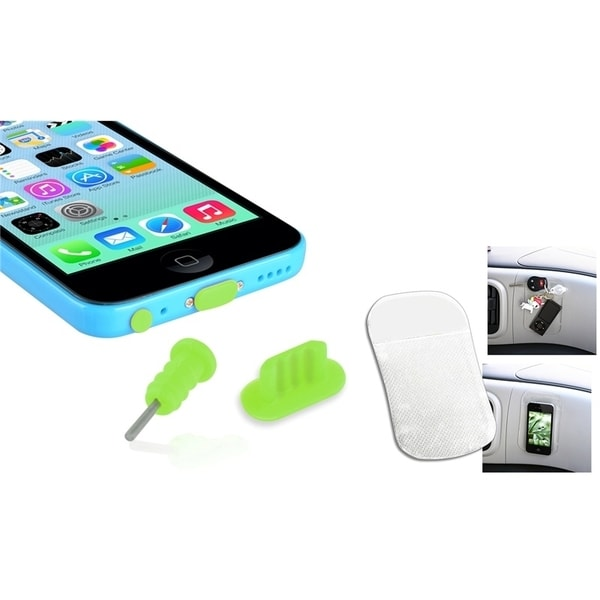INSTEN Dust Cap SIM Eject Pin/ Sticky Mat for Apple iPhone 5/ 5S/ 5C