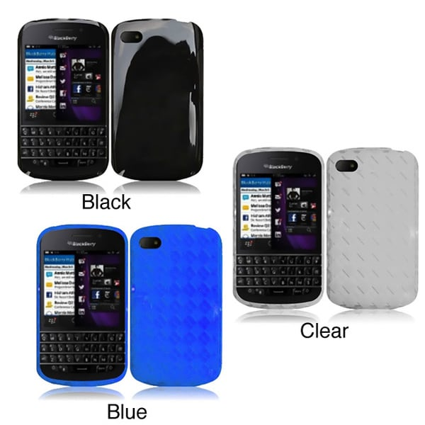 INSTEN TPU Phone Case Cover for Blackberry Q10