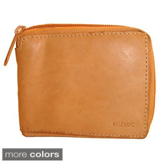 Kozmic Leather Zipper Wallet
