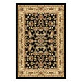Centennial '107553' Black Traditional Area Rug (2' x 3')