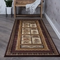 Lodge '106538' Brown Area Rug (2'7 x 7'3)