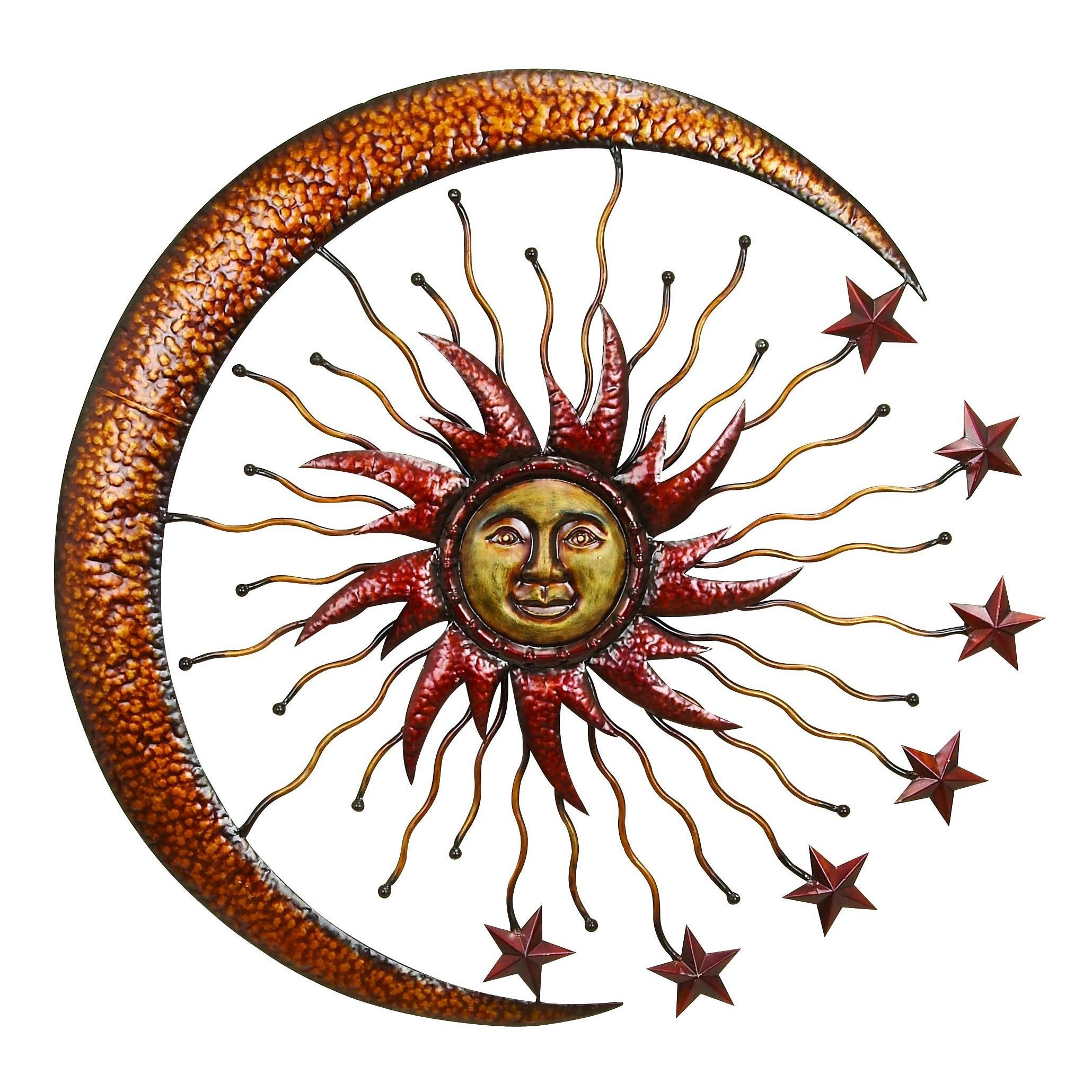 Metal Star Wall Decor Similiar Metal Moon And Stars Wall Decor And Metal Brown Moon Sun