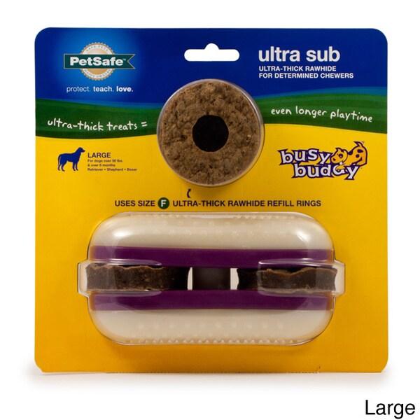 PetSafe Busy Buddy Ultra Sub Rawhide Pet Chew Toy