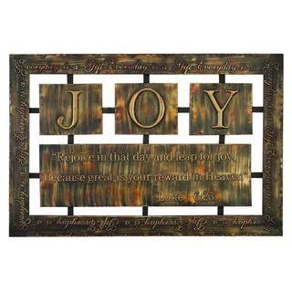 Joy Metal Wall Plaque