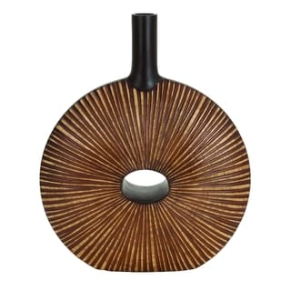 Brown/ Black Polystone Vase