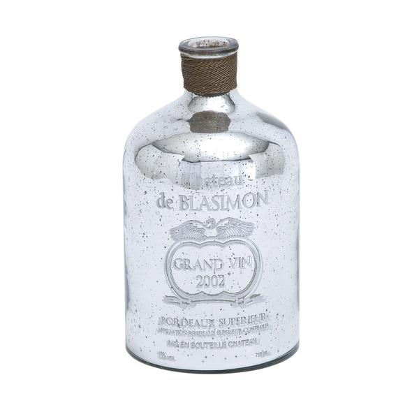 Old World Textured Glass Bottle